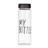 Botella transparente portátil para agua y bebidas